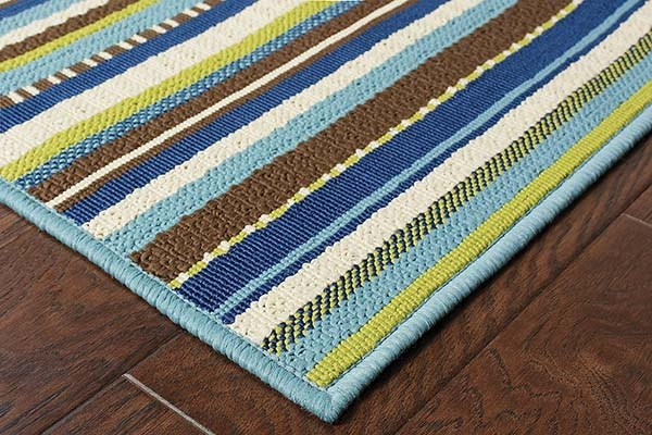 Blue, Brown Outdoor / Indoor Area Rug