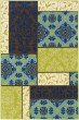 Product Image of Brown, Blue Damask Area Rug