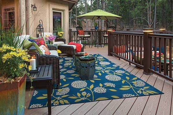 Blue, Green Outdoor / Indoor Area Rug