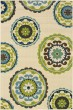 Product Image of Contemporary / Modern Ivory, Green (859J) Area Rug