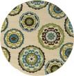 Product Image of Ivory, Green (859J) Mandala Area Rug