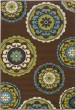 Product Image of Contemporary / Modern Brown, Green (859D) Area Rug