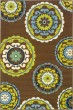 Product Image of Mandala Brown, Green (859D) Area Rug