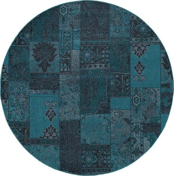 Teal, Grey (G2) Contemporary / Modern Area Rug
