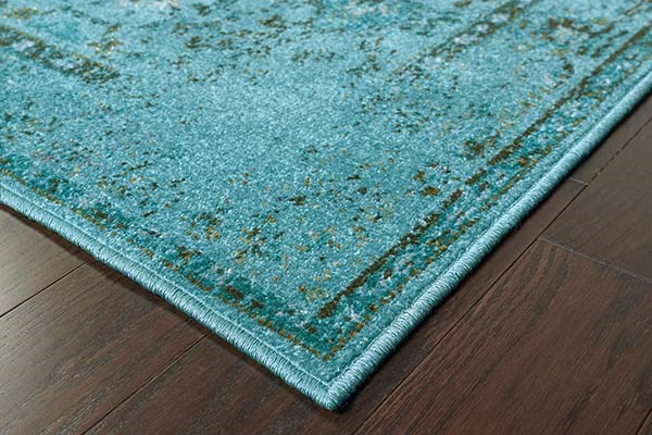 Teal, Grey (H2) Traditional / Oriental Area Rug