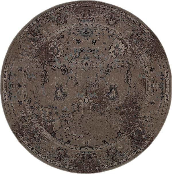 Grey, Black (Q2) Traditional / Oriental Area Rug