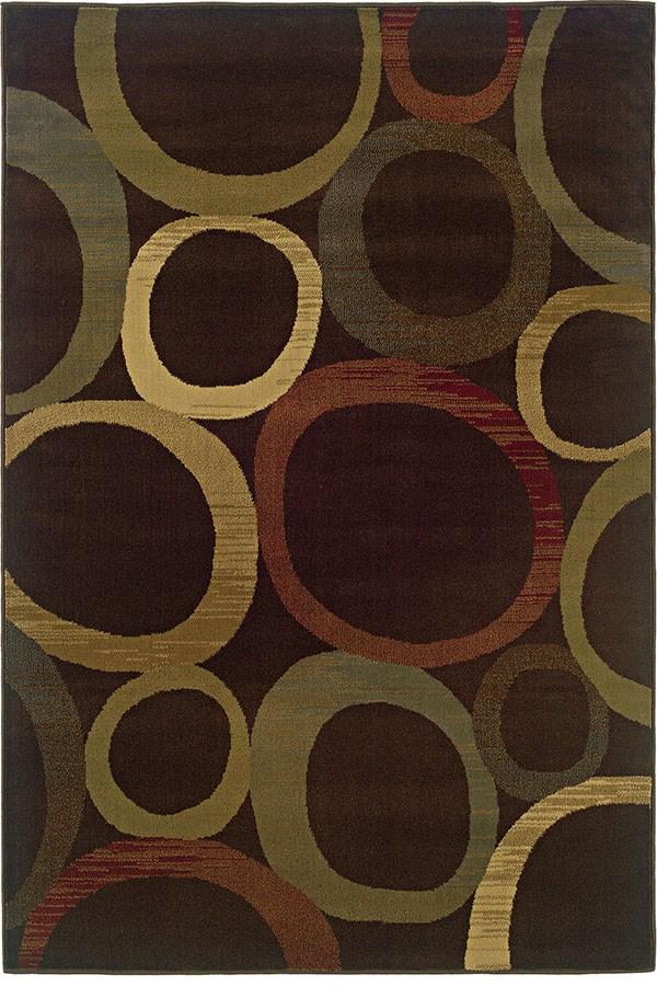 Brown, Beige Contemporary / Modern Area Rug