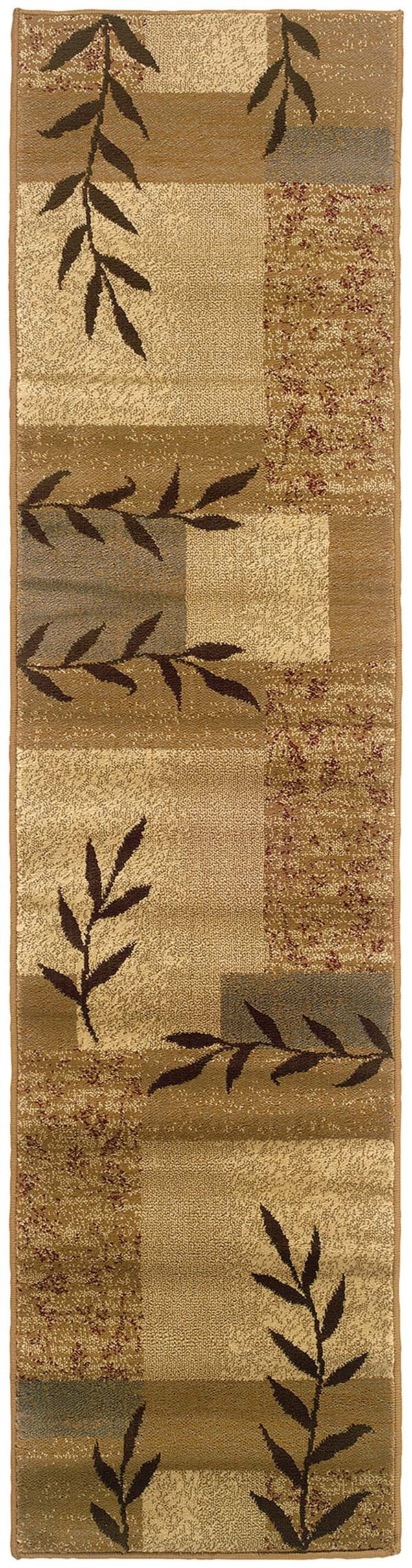Gold, Beige Transitional Area Rug