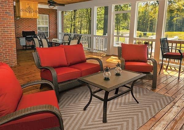 Tan Outdoor / Indoor Area Rug