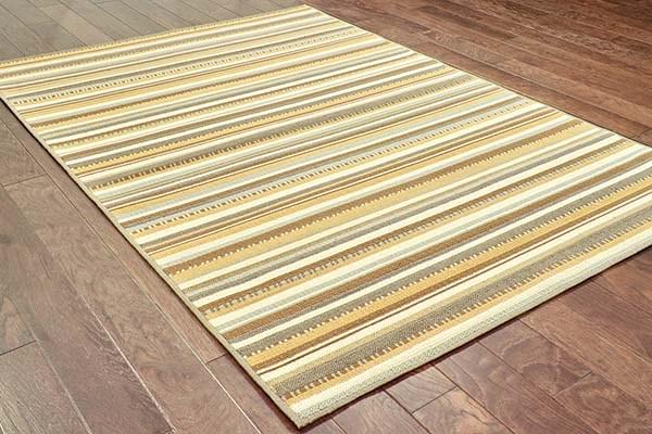Grey, Gold (J) Outdoor / Indoor Area Rug