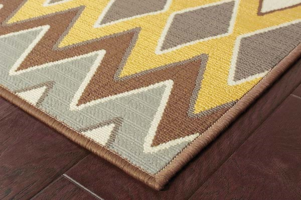 Grey, Gold (D) Transitional Area Rug