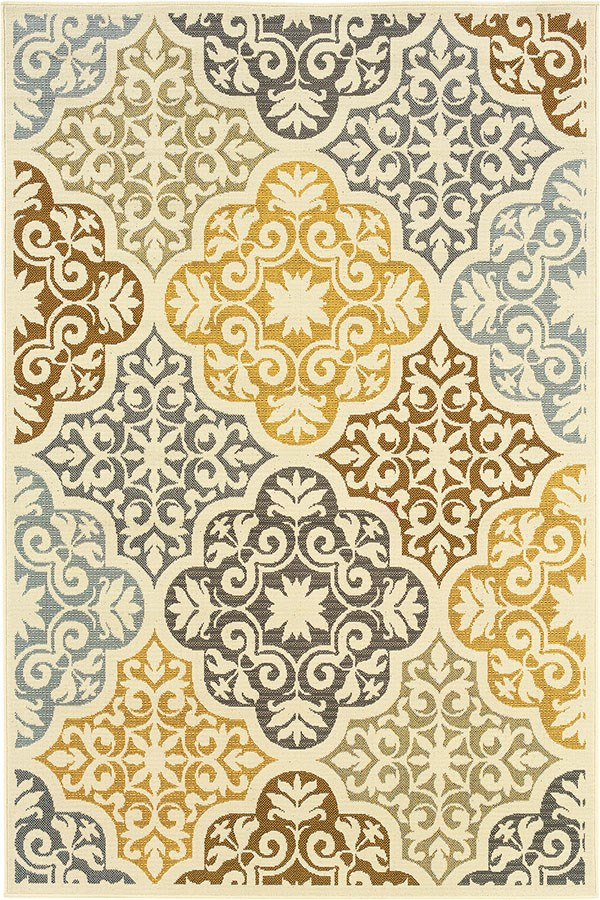 Ivory, Grey (W) Moroccan Area Rug
