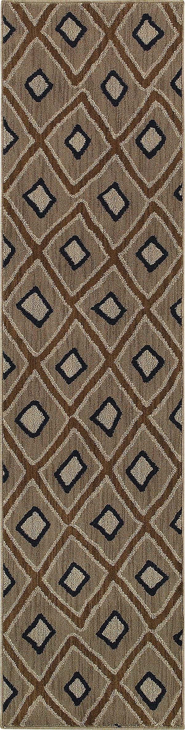Grey, Brown (D) Transitional Area Rug