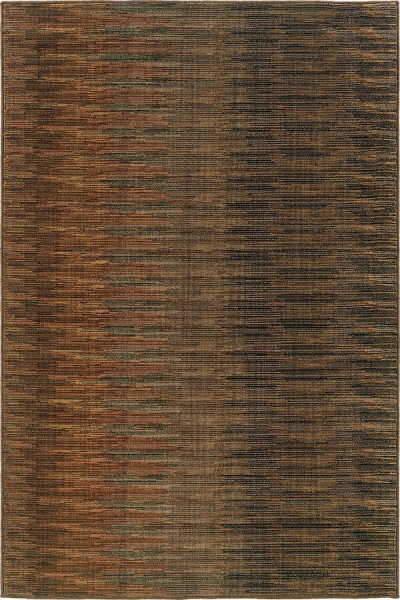 Brown, Rust (A) Contemporary / Modern Area Rug