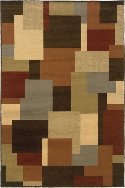 Brown, Beige Geometric Area Rug
