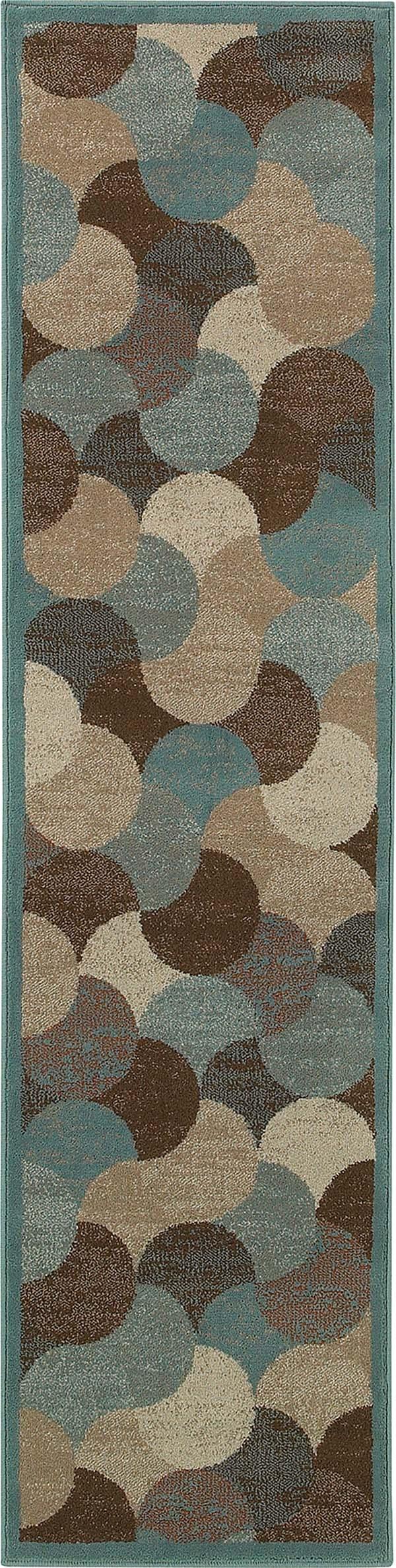Beige, Blue Contemporary / Modern Area Rug