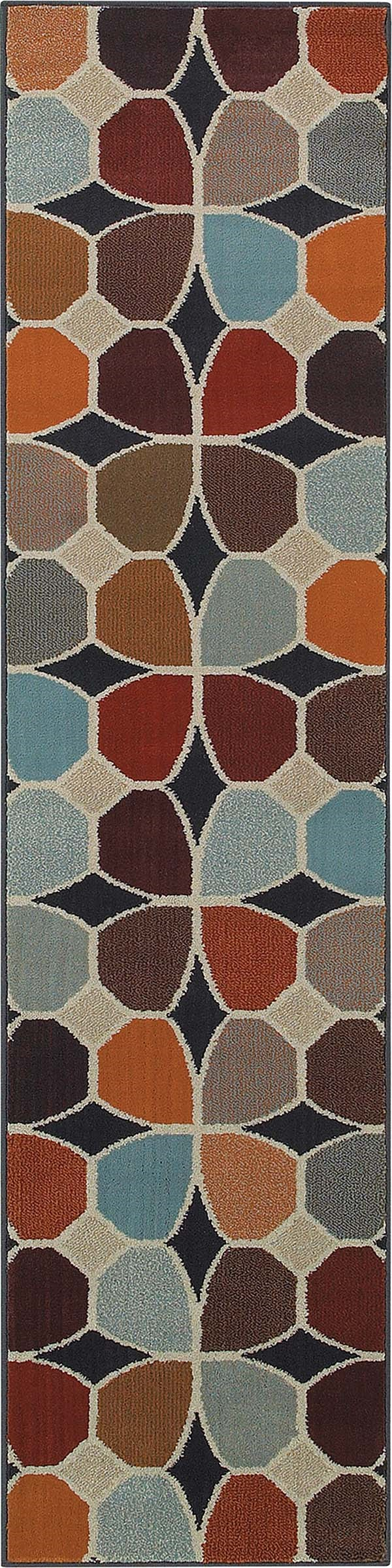 Red, Stone Contemporary / Modern Area Rug