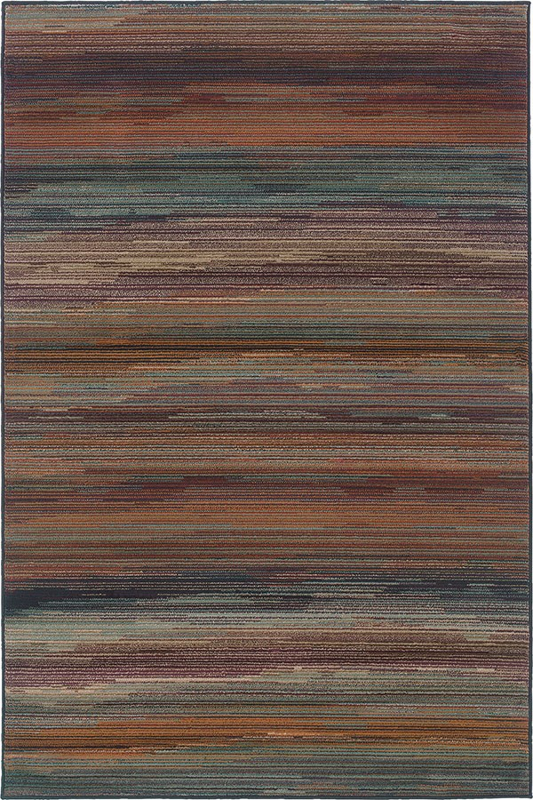 Ivory, Brown Transitional Area Rug