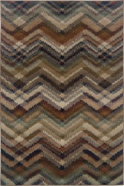 Brown, Beige (C) Chevron Area Rug