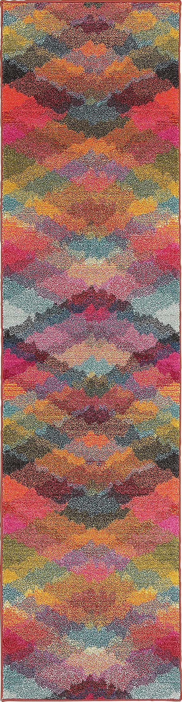 Pink (X) Contemporary / Modern Area Rug