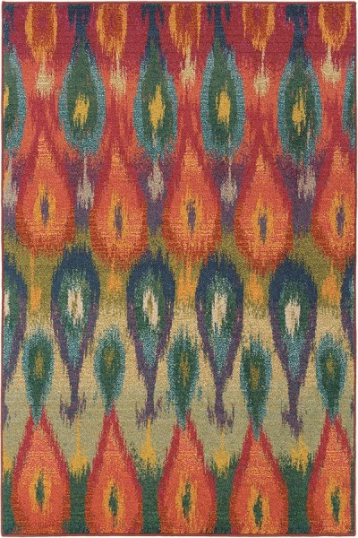Red (Z) Bohemian Area Rug
