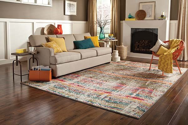 Red (F) Bohemian Area Rug