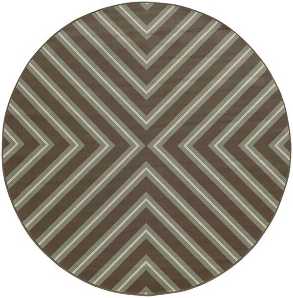Grey, Blue (D) Contemporary / Modern Area Rug