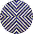 Product Image of Navy, Green (L) Contemporary / Modern Area Rug
