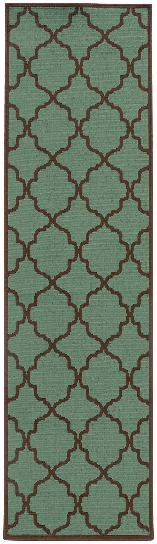 Grey, Brown (A) Moroccan Area Rug