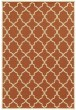 Product Image of Contemporary / Modern Orange, Ivory (D) Area Rug