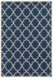 Product Image of Contemporary / Modern Navy, Ivory (L) Area Rug