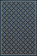 Product Image of Geometric Navy, Ivory (G) Area Rug