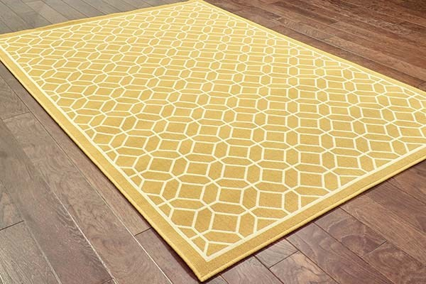 Gold, Ivory (H) Moroccan Area Rug
