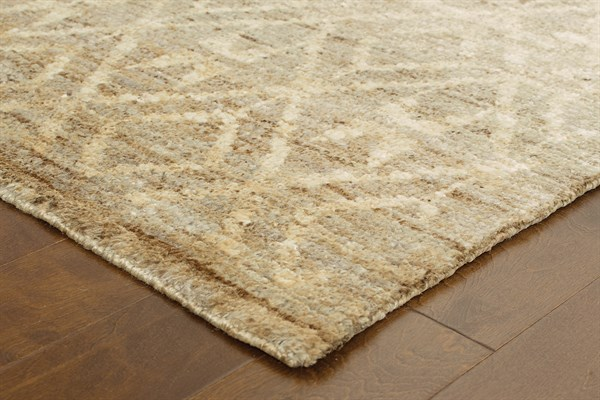 Taupe, Beige Transitional Area Rug