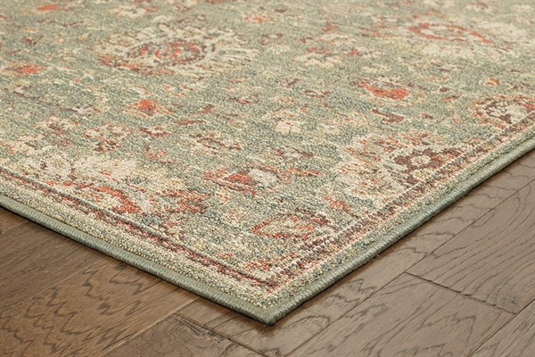 Blue, Beige (L) Traditional / Oriental Area Rug