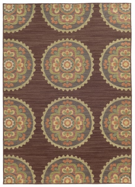Brown (M) Contemporary / Modern Area Rug