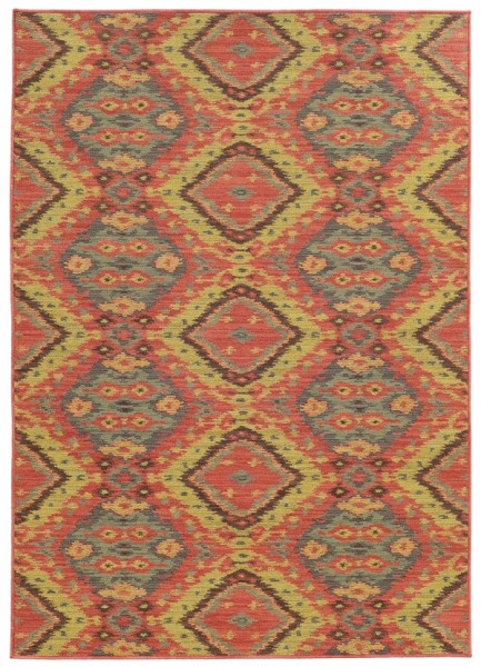 Pink, Blue Bohemian Area Rug