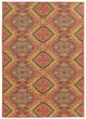 Product Image of Pink, Blue Ikat Area Rug