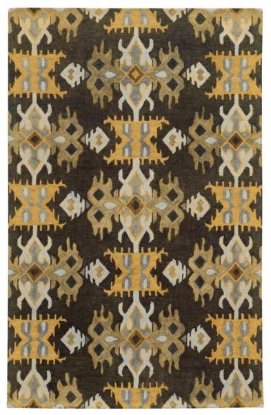 Black, Gold Southwestern Area Rug