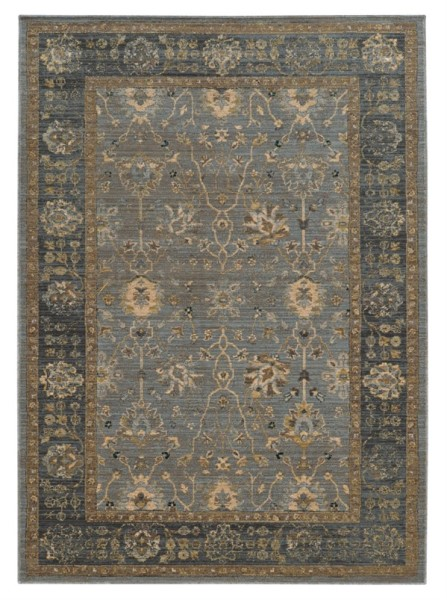 Blue, Beige (E) Traditional / Oriental Area Rug