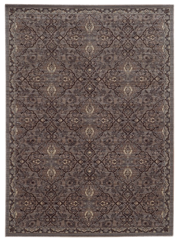 Brown, Blue Traditional / Oriental Area Rug