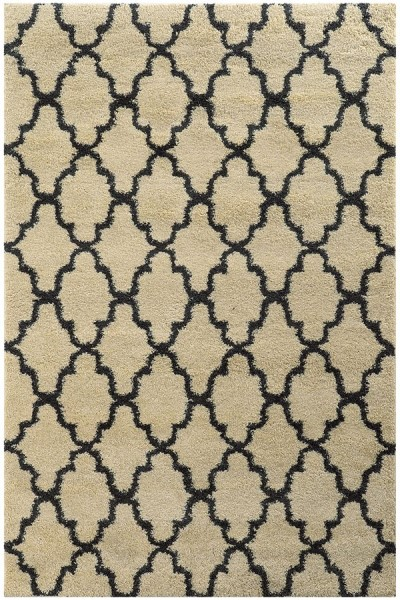 Ivory, Midnight Black (W) Transitional Area Rug