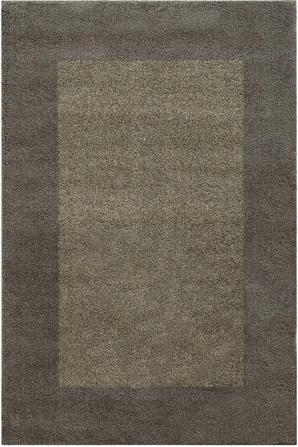 Grey, Beige (Y) Bordered Area Rug