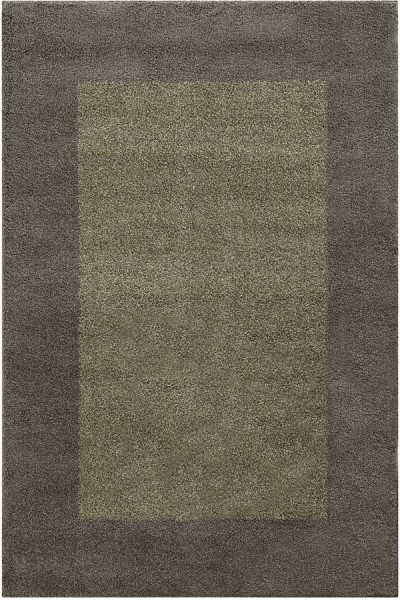 Grey, Beige (Y) Bordered Area Rug