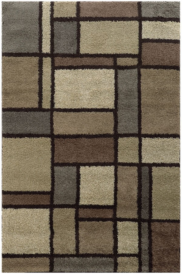 Beige, Midnight Black Transitional Area Rug