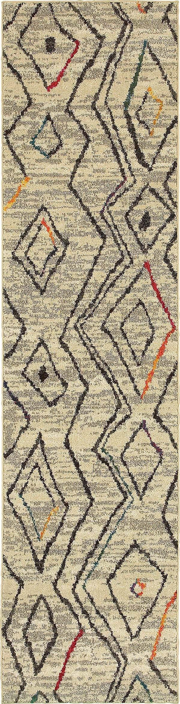 Ivory, Black (W) Southwestern / Lodge Area Rug