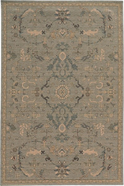 Blue, Beige Traditional / Oriental Area Rug
