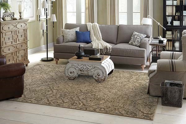 Beige, Grey Contemporary / Modern Area Rug