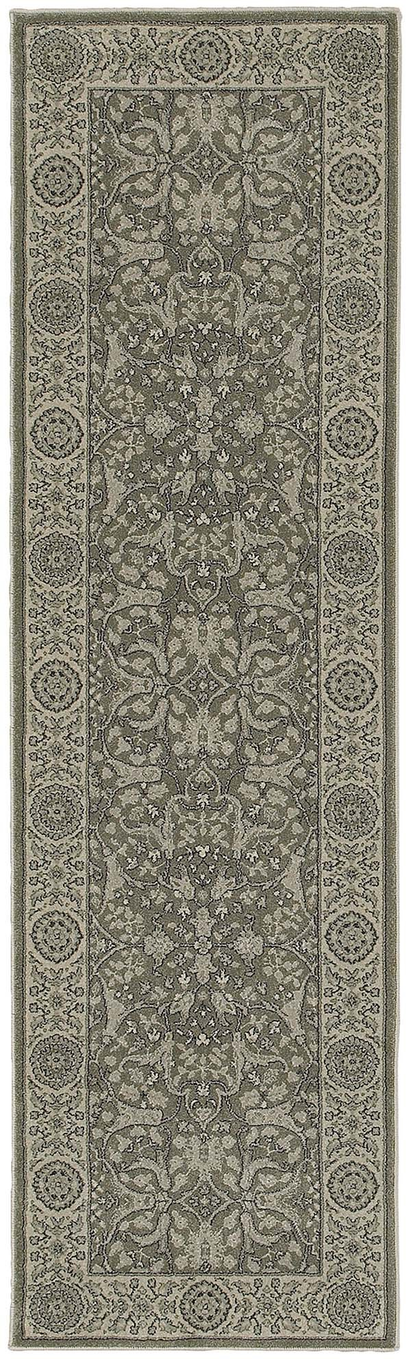 Grey, Ivory Traditional / Oriental Area Rug