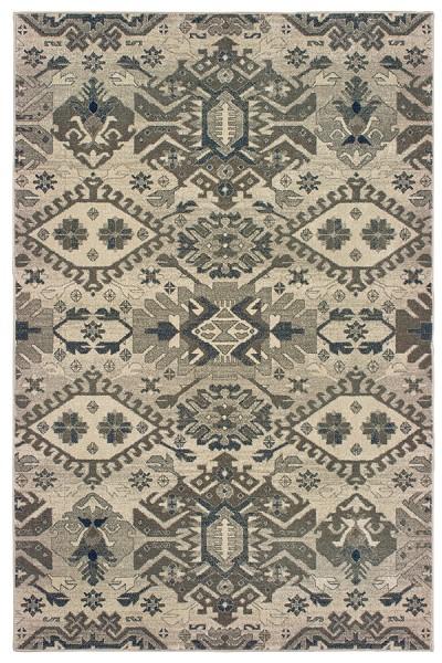 Grey, Brown (J) Moroccan Area Rug
